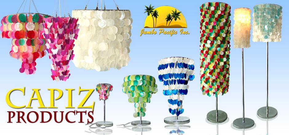 Philippines Capiz Shells Chandelier Lamps Curtain